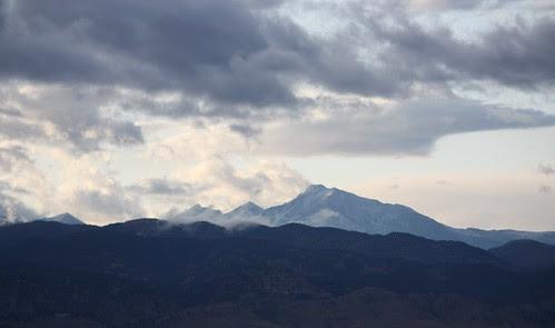 1st snow on Longs Peak