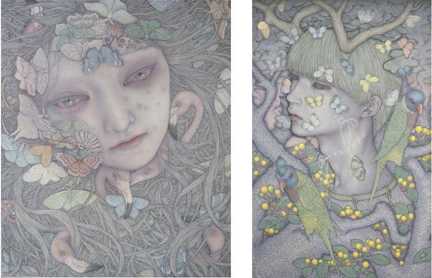 Atsuko Goto - Cannivalism, (Gauche) ---- Monstre Dreaming Ⅳ, (à droite)