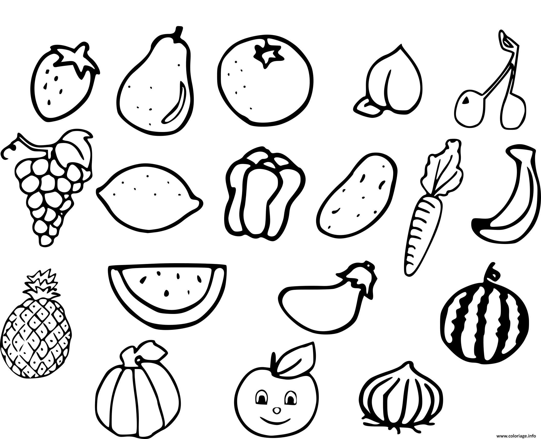 Coloriage Fruits Et Legumes Jecoloriecom