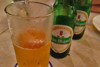 Eating in Manila - San Miguel light
