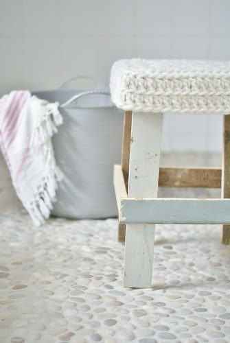 snow-white, warm & woolly by wood & wool stool