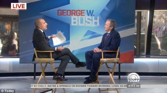 The 'split-up' nature of the news media is partly to blame for America's nationwide political schisms, Bush said