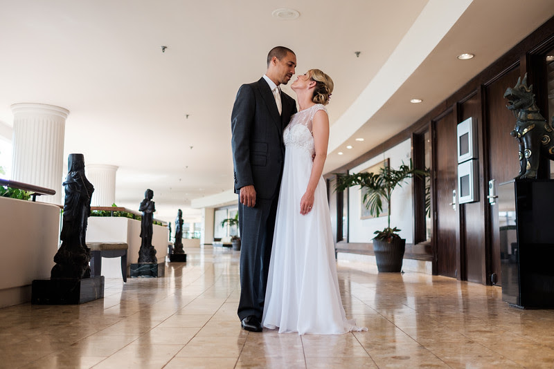 Danielle and Shannon share a first look at the Westin Maui where they chose to have their beautiful destination wedding. We had a first look at the mezzanine at the hotel.