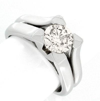 Foto 1, Neu! 1,14ct-Solitär-Ring Traum-Design! Luxus! Portofrei, S8625