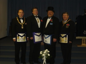 WM Tom Klecan and Grand Lodge Officers