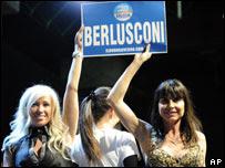 Mujeres con Berlusconi