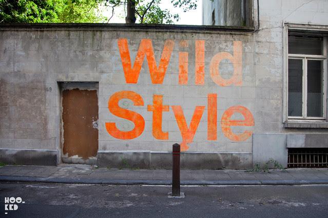 Brussels street art Wild Style letters