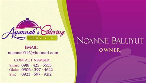 Ayannah's Catering   Logo Design & Business Card on Behance