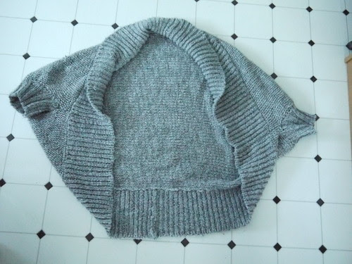 Sweater before deconstruction