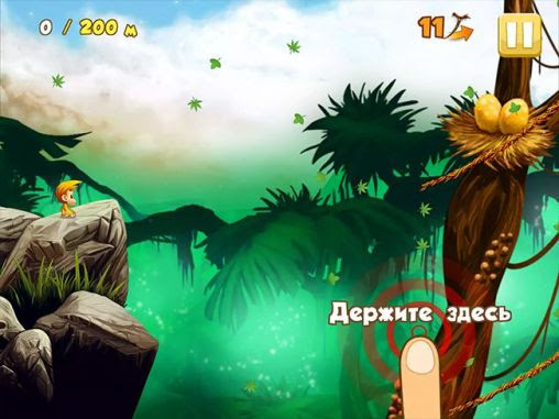 Screenshots of the Benji bananas adventures for Android tablet, phone.
