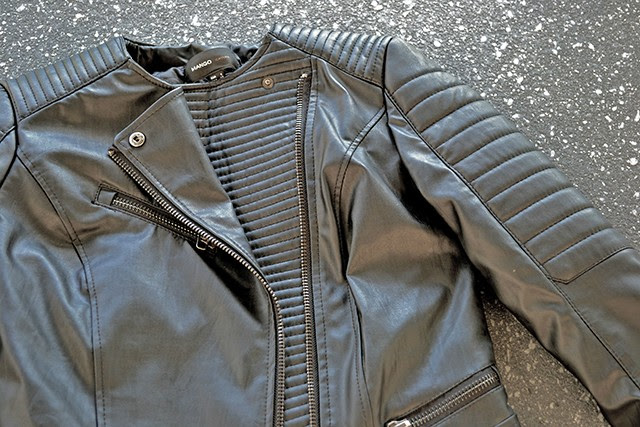 mango leather jacket harley biker 2013