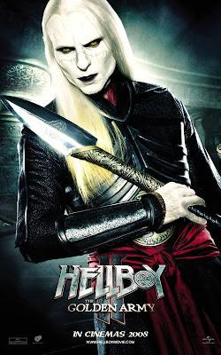 Luke Goss as Prince Nuada in Hellboy II movie poster