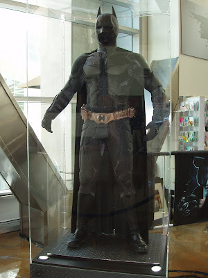 The Dark Knight movie costume - Batman suit on display at The Arclight