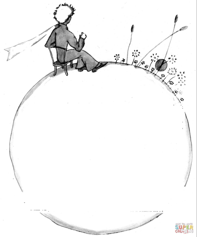 Klick das Bild Der kleine Prinz auf dem Planeten