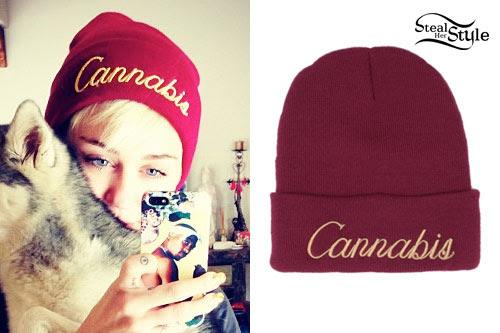 Miley Cyrus: Cannabis Beanie