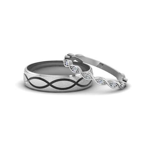 Infinity Diamond Matching Wedding Anniversary Band Gifts