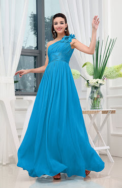Cornflower blue evening dress