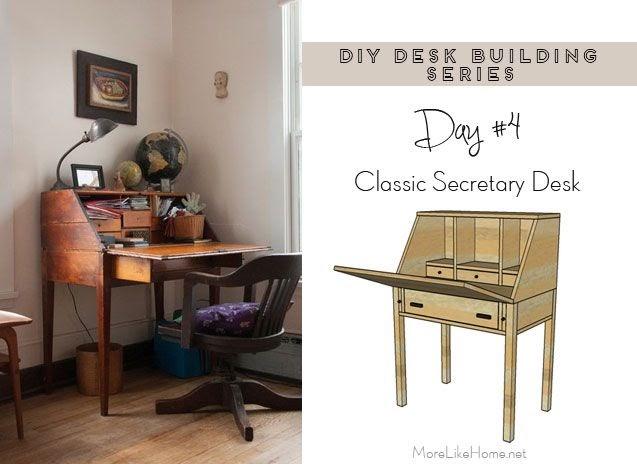 Do It Yourself Home Design: More Like Home: DIY Desk Series #4