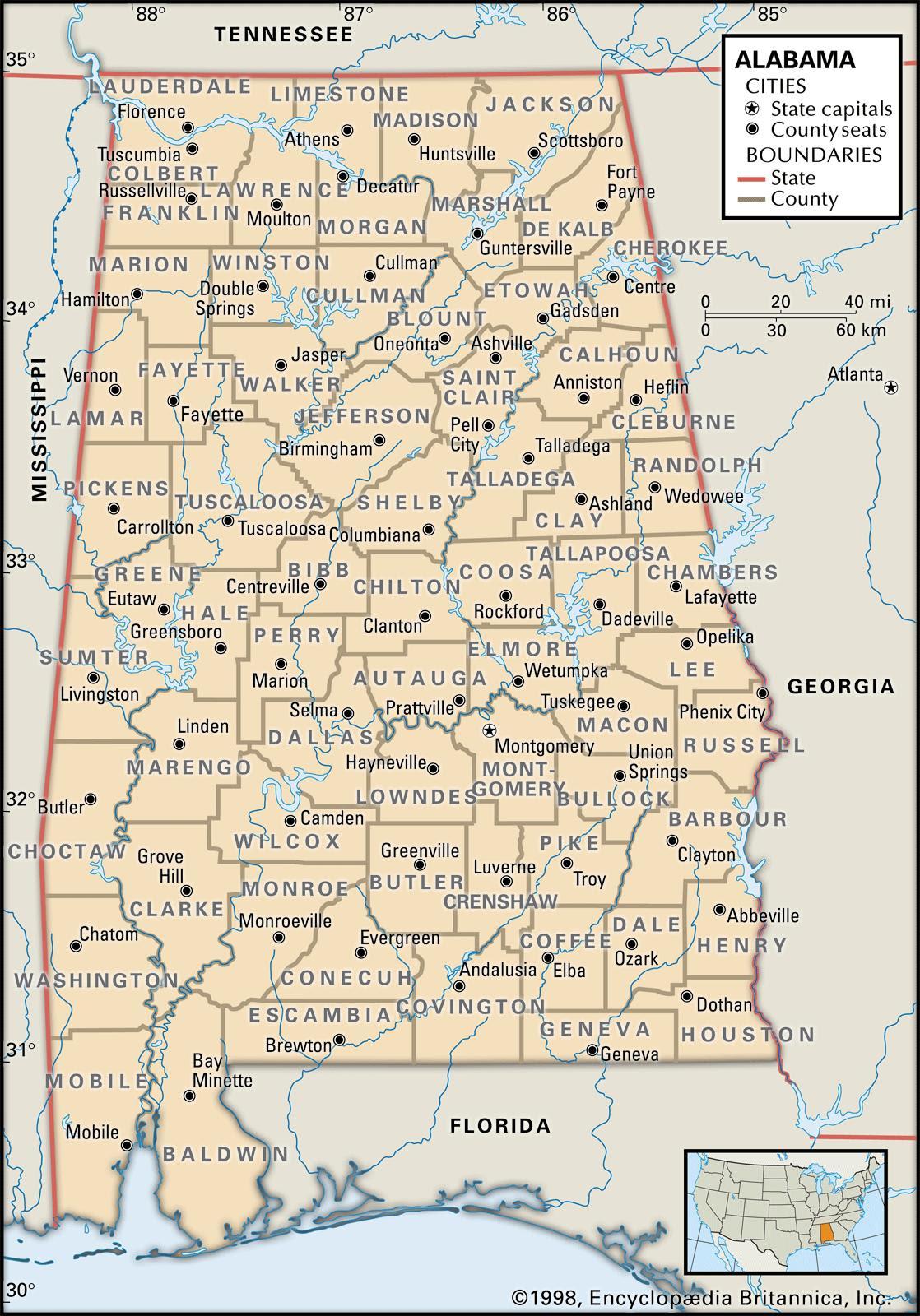 Alabama Maps And Atlases