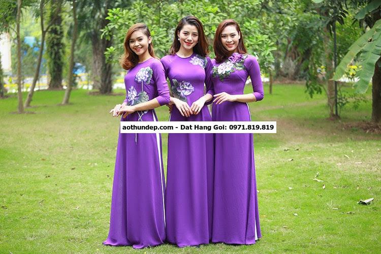 các mẫu áo dài đồng phục
