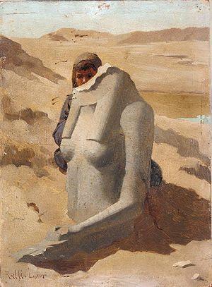 Φωτογραφία του πίνακα Παιδί κρύβεται πίσω από ...