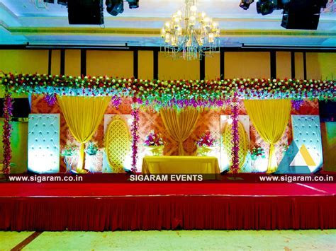Wedding and Reception Stage Decoration at Anandha Inn