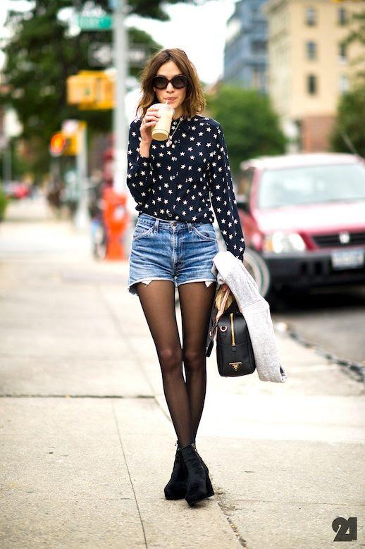 13 Le Fashion Blog 40 Of Alexa Chung Best Looks With Denim Shorts Star Print Shirt Tights Jean Cut Offs Platform Boots Via Le 21eme by Adam Katz Sinding