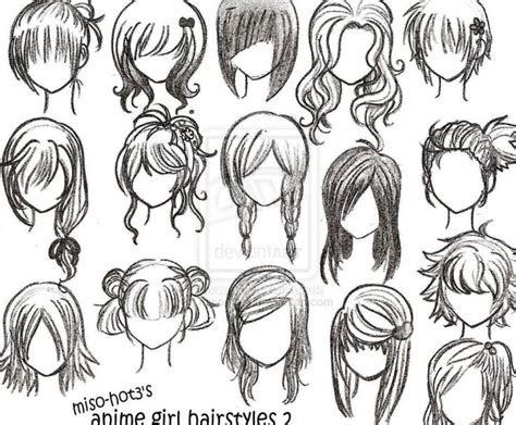 easy  draw emo hair   draw anime girl