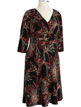 Old Navy Women's Plus Printed Wrap-Front Dresses