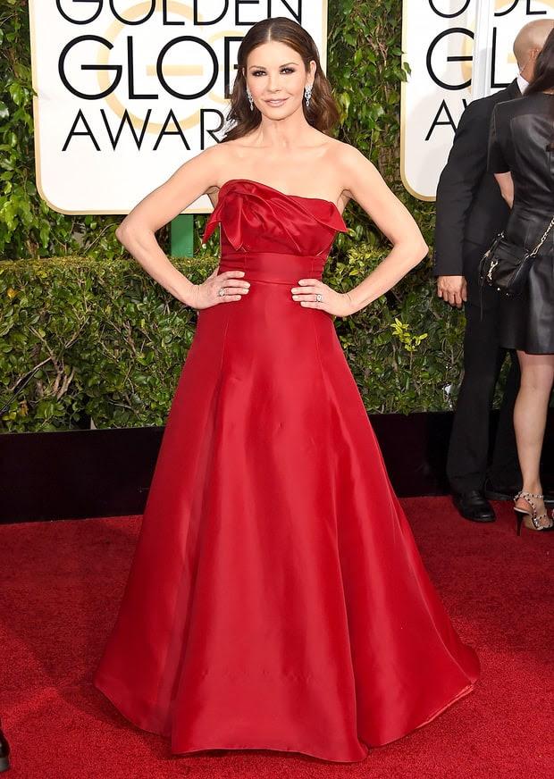 Catherine zeta jones red carpet dresses like dorothy