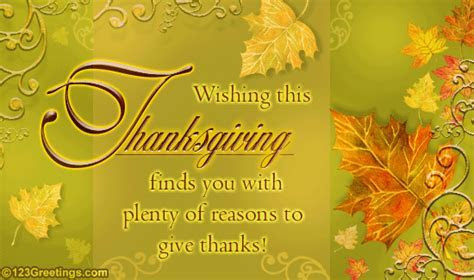 Thanksgiving Wish  Free Happy Thanksgiving eCards