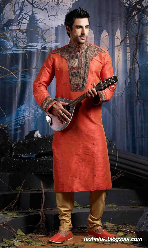 Kurta-Designs-Men-Male-New-Latest Silk-Kurta-Style-Design-9