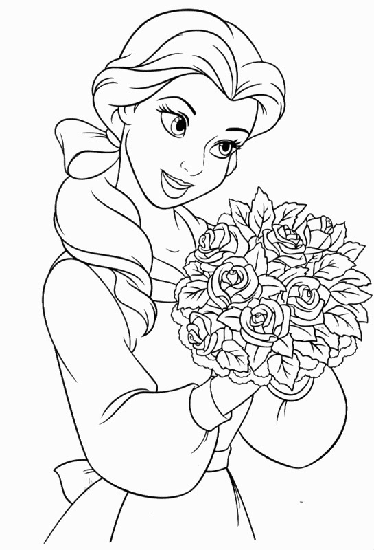 Beauty And The Beast Coloring Pages Disney At Getdrawingscom Free