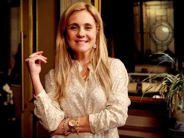 Adriana Esteves conta que cabelo é a alma de Carminha (Foto: Avenida Brasil/TV Globo)