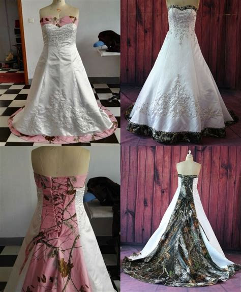 gothic camo wedding dress real images bridal gowns