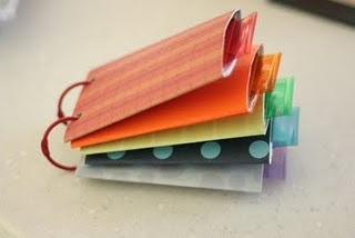 Crazy cute toilet paper tube book with tabs!