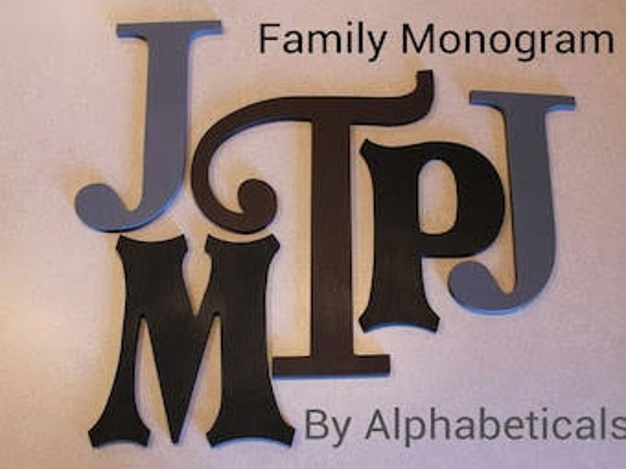 Vine Monogram Wooden Letters Initials Baby Shower by Alphabeticals