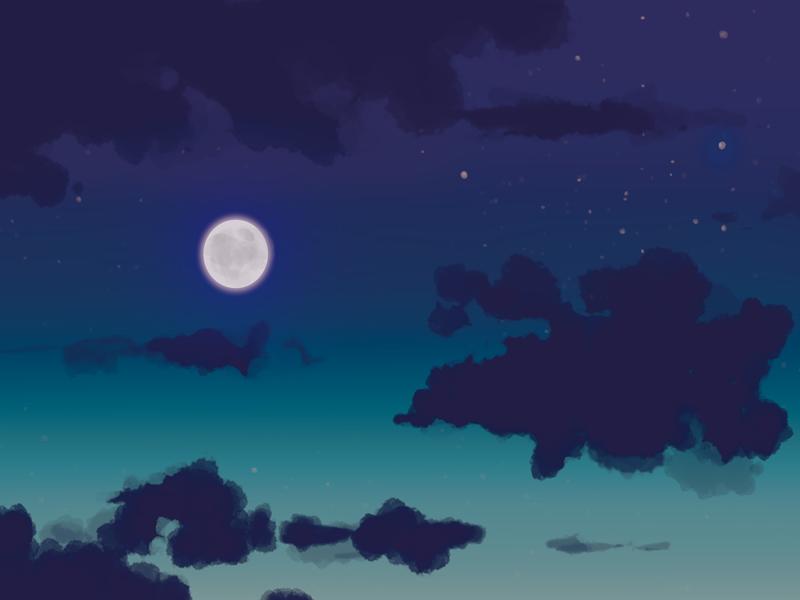 夜空を描いてみた ふしきなイラスト見聞録