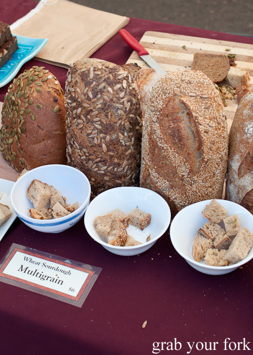 Sourdough multigrain breads at Frenchs Forest Organic Food Market
