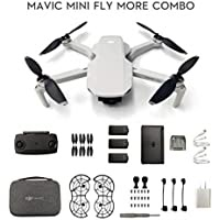 DJI Mavic Mini Fly More Combo Drone FlyCam Quadcopter with 2.7K Camera 3-Axis Gimbal GPS 30min Flight Time 12 mp Camera