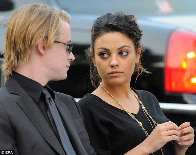 Actors Macaulay Culkin and Mila Kunis dated for eight years before she began a relationship with Demi Moore's ex-husband Ashton Kutcher