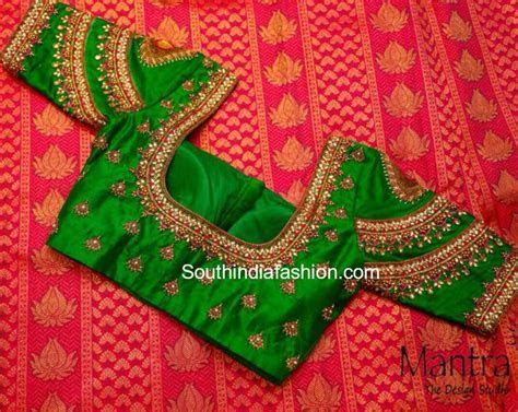 Bridal Silk Saree Blouse Designs by ?Mantra  The Design