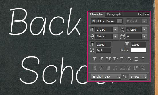 Chalk Text Effect step 2