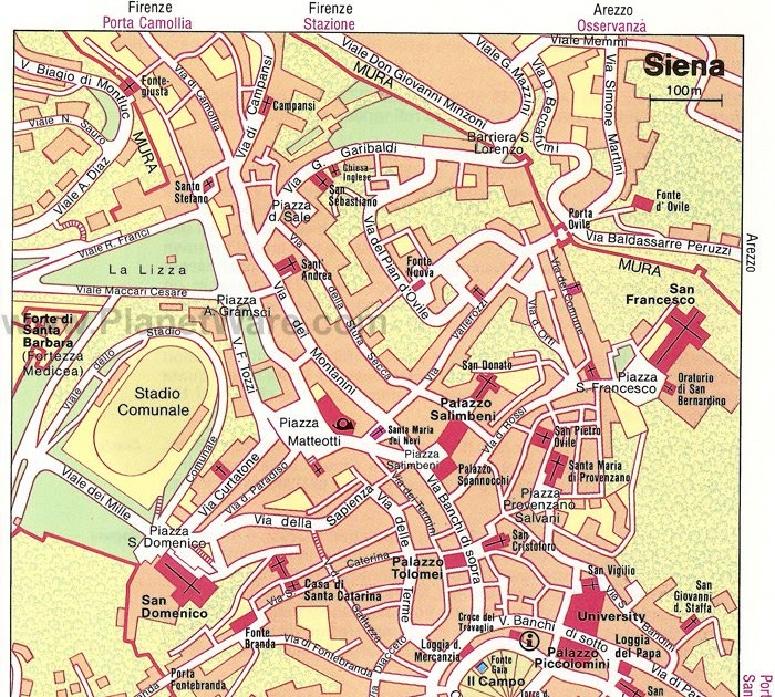Siena Map Italy ELAMP