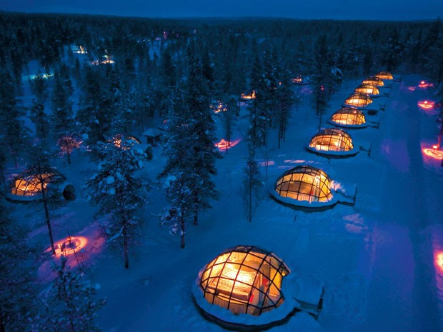 Vila de iglus na Finlandia (Foto: Divulgação)