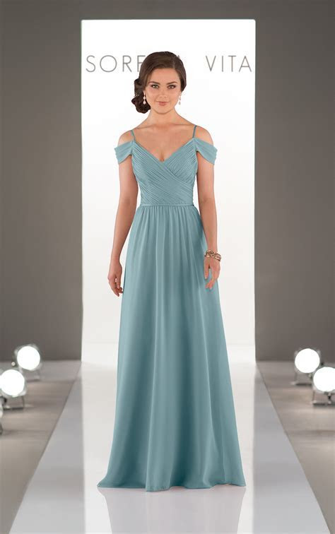 Bridesmaid Gowns   Romantic Off the Shoulder Gown
