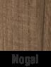 Muebles de madera en nogal