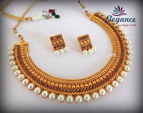 South Indian Pearl Jewellery   Traditional One Gram Gold