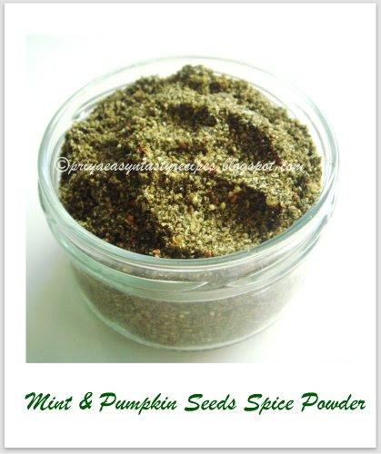 Mint & pumpkin seeds powder