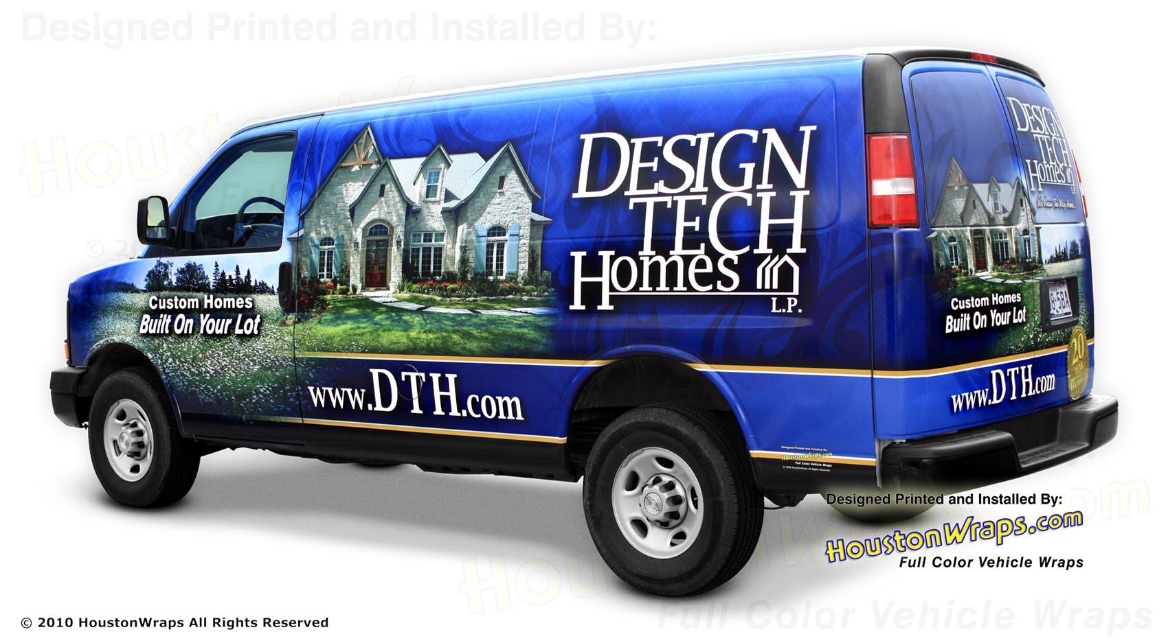 Houston Wraps Van Wrap Design Tech Homes